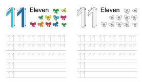 Tracing worksheet for figure eleven Royalty Free Stock Images
