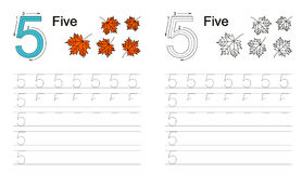 Tracing worksheet for figure 5 Stock Image