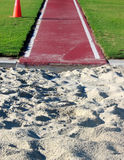 Track 1. Long jump track Royalty Free Stock Photo
