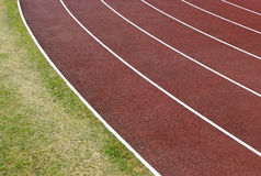 Track. Curved running track royalty free stock image