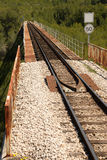 Track. Railway track crossing a valley on a bridge Stock Photography