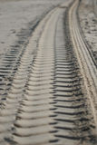 Track. Of a car on the beach Royalty Free Stock Images