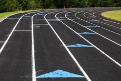 Track. A running track and field Royalty Free Stock Photos