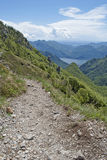 Track. Walking on a trek in grigna, italy Royalty Free Stock Photo