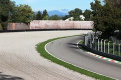 Track. A curve of a track in Monza royalty free stock image