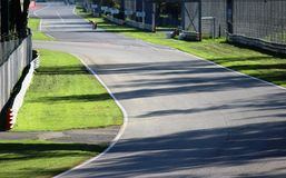 Track. A curve of a track in Monza stock images