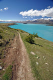 The track above Lake Tepako Stock Images
