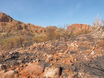 The track along the ridge of Trephina Gorge to Turners lookout, east MacDonnell ranges Royalty Free Stock Photography