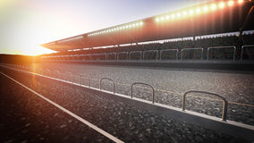 Track arena background Stock Image