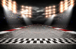 Track arena 3d. The imaginary track arena is modelled and rendered royalty free stock photo