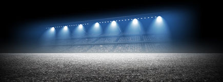 Track arena. An imaginary stadium is modelled and rendered Royalty Free Stock Photo