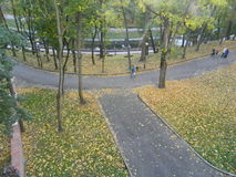 The track in the autumn Park. Stock Photo