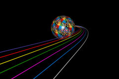 Track ball. Illustration art of a track ball with black background royalty free illustration