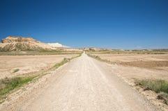 Track at bardenas reales Stock Image