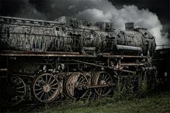 Track, Black And White, Locomotive, Transport Royalty Free Stock Photography
