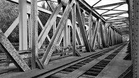Track, Black And White, Transport, Bridge royalty free stock photo