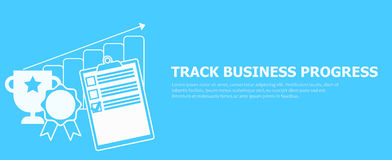 Track business progress banner. Royalty Free Stock Images