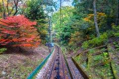 Track of Cablecar to Koyasan in Wakayama Royalty Free Stock Photo