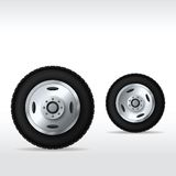 Track car wheels set Royalty Free Stock Image