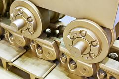 Track caterpillar with rollers Royalty Free Stock Images