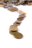 Track of the coins Royalty Free Stock Image