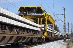 Track-construction train Stock Photo