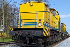 Track-construction train. Diesel-locomotive for track-construction train, germany Stock Photos