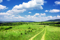 Track in countryside Stock Photography