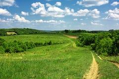 Track through countryside Stock Photo