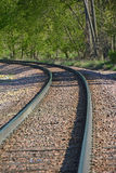 Track Curve. Railroad track in a sweeping curve Stock Images