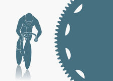 Track cycling background Stock Images