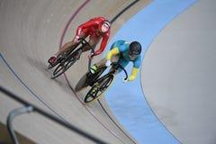 Track Cycling at the 2016 Olympics. Rio de Janeiro -Brazil, - Track Cycling at the 2016 Olympics in the park Stock Photos
