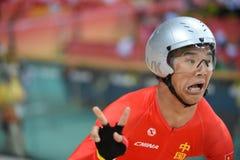 Track Cycling at the 2016 Olympics. Rio de Janeiro -Brazil, - Track Cycling at the 2016 Olympics in the park Stock Image