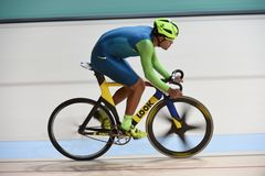 Track Cycling at the 2016 Olympics. Rio de Janeiro -Brazil, - Track Cycling at the 2016 Olympics in the park Stock Image