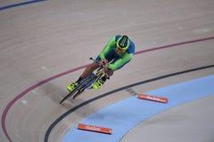 Track Cycling at the 2016 Olympics. Rio de Janeiro -Brazil, - Track Cycling at the 2016 Olympics in the park Royalty Free Stock Photography