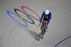 Track Cycling at the 2016 Olympics. Rio de Janeiro -Brazil, - Track Cycling at the 2016 Olympics in the park Royalty Free Stock Photo