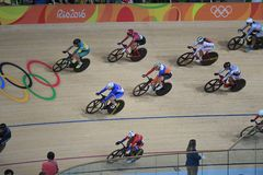Track Cycling at the 2016 Olympics Stock Photo