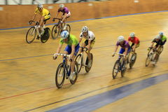 Track cycling race Stock Photos