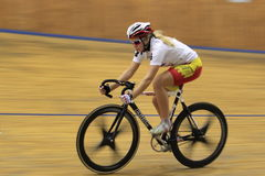 Track cycling race in Prague Stock Photo