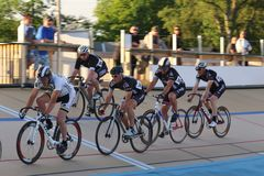 Track cycling race Royalty Free Stock Photos