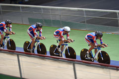 Track cycling Stock Image