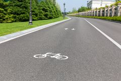Track for cyclists Stock Photos