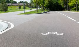 Track for cyclists Royalty Free Stock Photo