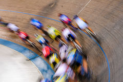 Track cyclists in motion Royalty Free Stock Photography