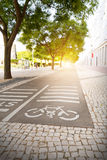 Track for cyclists Royalty Free Stock Image