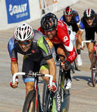 Track cyclists pursuit Stock Photo