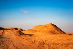 Track in desert Stock Images