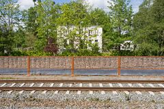 Track in Diemen and the Dutch-Jewish cemetery in Diemen on the Ouddiemerlaan 146 Royalty Free Stock Image