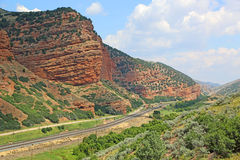 The track in Echo Canyon Royalty Free Stock Images