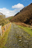 Track of the Elan Valley Railway, now a path. Stock Photos